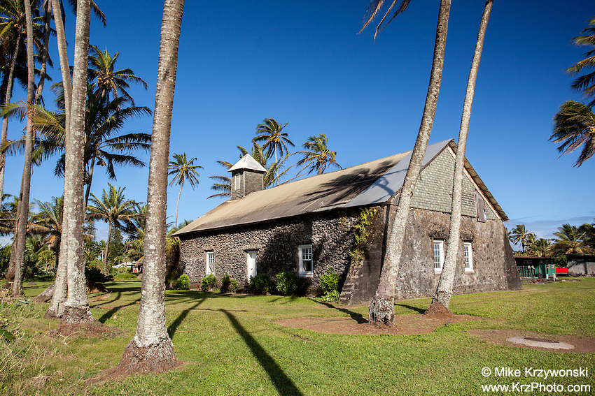 Ke'anae Congregational Church, built in 1860, Ke'anae Peninsula, on the way to Hana, Maui