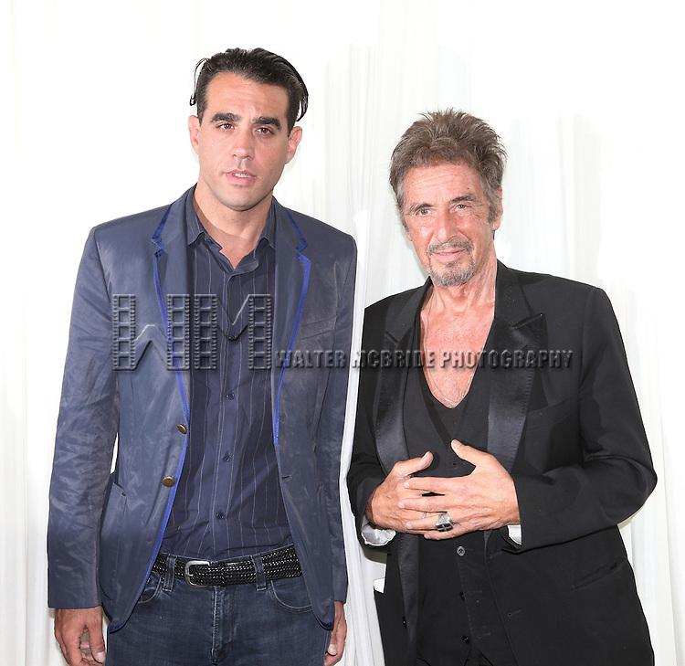 Bobby Cannavale & Al Pacino attending the 'Glengarry Glen Ross' Media Day at Ballet Hispanico Rehearsal Studios in New York City on 9/19/2012.