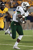 USF wide receiver Lindsey Lamar. The West Virginia Mountaineers defeated the South Florida Bulls 20-6 on October 14, 2010 at Mountaineer Field, Morgantown, West Virginia.