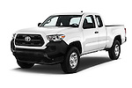 2017 Toyota Tacoma SR-Access 4 Door Pick-up Angular Front stock photos of front three quarter view