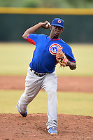 Chicago Cubs pitcher Juan Paniagua (71) during an Instructional League intersquad game on October 9, 2014 at Cubs Park Complex in Mesa, Arizona.  (Mike Janes/Four Seam Images)