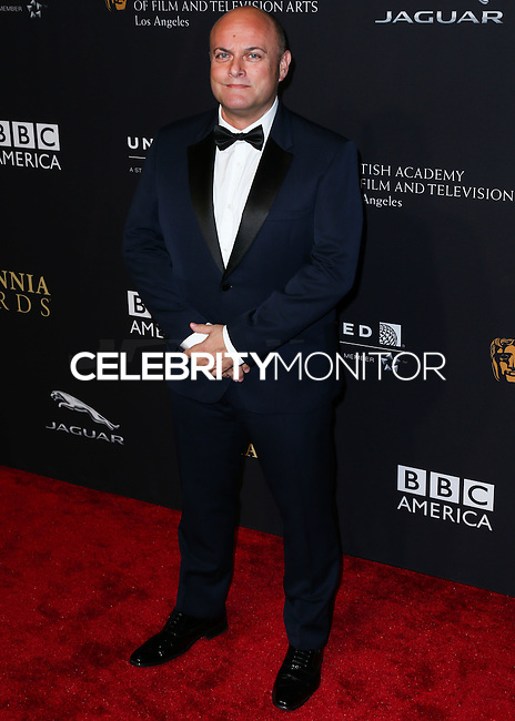 BEVERLY HILLS, CA, USA - OCTOBER 30: Nigel Daly arrives at the 2014 BAFTA Los Angeles Jaguar Britannia Awards Presented By BBC America And United Airlines held at The Beverly Hilton Hotel on October 30, 2014 in Beverly Hills, California, United States. (Photo by Xavier Collin/Celebrity Monitor)