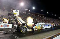 Sep 13, 2013; Charlotte, NC, USA; NHRA top fuel dragster driver Brandon Bernstein during qualifying for the Carolina Nationals at zMax Dragway. Mandatory Credit: Mark J. Rebilas-