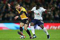 Serge Aurier of Tottenham Hotspur ad Dan Butler of Newport County during Tottenham Hotspur vs Newport County, Emirates FA Cup Football at Wembley Stadium on 7th February 2018