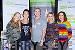 Molly Carey and Cathriona Spillane Beaufort, Ben Pratt and Donna Nelan both Nordic Fitness Education and Aileen Doyle Beaufort at the Balance expo in the INEC on Sunday