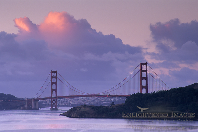 Golden Gate Bridge and clouds over San Francisco Bay, California