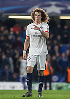 David Luiz of Paris Saint-Germain during the UEFA Champions League Round of 16 2nd leg match between Chelsea and PSG at Stamford Bridge, London, England on 9 March 2016. Photo by Andy Rowland.