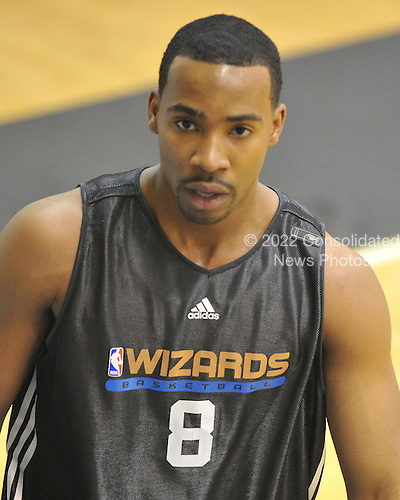 Washington, DC - December 31, 2009 -- Washington Wizards guard Javaris Crittenton (8) following the team's practice at the Verizon Center in Washington, D.C. on Thursday, December 31, 2009..Credit: Ron Sachs / CNP..(RESTRICTION: NO New York or New Jersey Newspapers or newspapers within a 75 mile radius of New York City)