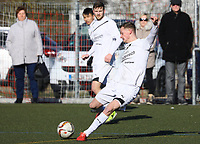 Nils Beisser (Büttelborn) zieht ab - 25.02.2018: SKV Büttelborn vs. SV Unter-Flockenbach, Gruppenliga Darmstadt
