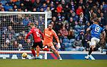 16.03.2019 Rangers v Kilmarnock: Conor McAleny takes the ball around Allan McGregor to score