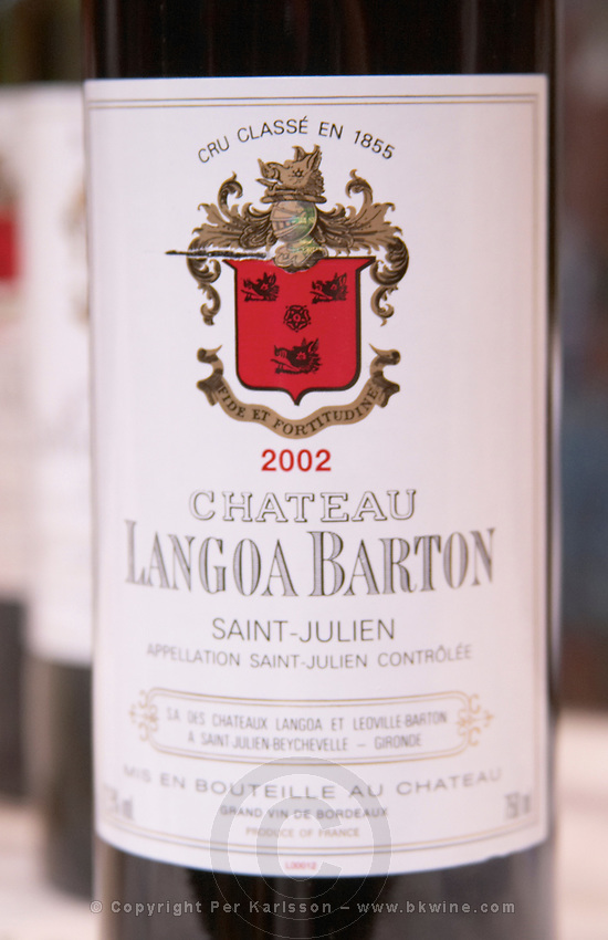 Chateau Langoa Barton, Saint Julien, Medoc, Bordeaux, France