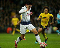 Son Heung-Min of Tottenham Hotspur during Tottenham Hotspur vs Borussia Dortmund, UEFA Champions League Football at Wembley Stadium on 13th February 2019