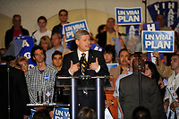 October 11, 2008 File Photo<br /> <br /> Stephen Harper, Prime Minister of Canada and Leader of the Conservative Party campaign in Montreal's south shore, during the last days of the federal elections.<br /> Canada's election will be held October 14 2008.