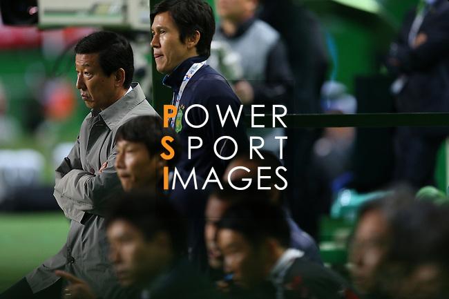 Jeonbuk Hyundai Motors vs Shandong Luneng during the 2015 AFC Champions League Group E match on May 06, 2015 at the Jeonju World Cup Stadium in Jeonju, Korea. Photo by Takefumi Tsutsui / World Sport Group