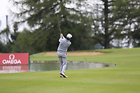 Brett Rumford (AUS) plays his 2nd shot on the 10th hole during Saturday's Round 3 of the 2017 Omega European Masters held at Golf Club Crans-Sur-Sierre, Crans Montana, Switzerland. 9th September 2017.<br /> Picture: Eoin Clarke | Golffile<br /> <br /> <br /> All photos usage must carry mandatory copyright credit (&copy; Golffile | Eoin Clarke)