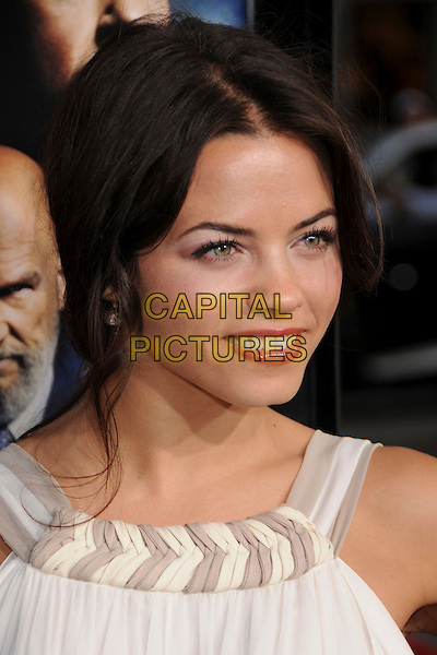 "JENNA DEWAN .""Iron Man"" Los Angeles Premiere at Grauman's Chinese Theatre, Hollywood, California, USA,.30 April 2008..portrait headshot white .CAP/ADM/BP.©Byron Purvis/Admedia/Capital PIctures"