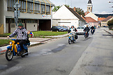 CZECH REPUBLIC,  Slavonice, Locals on mopeds