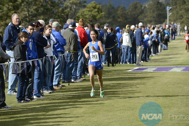 01 NOV 2013: The Mountain West Conference Cross Country Championship hosted by the United States Air Force Academy in Colorado Spring, CO. (Justin Tafoya/NCAA Photos)