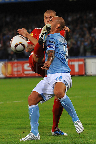 21 10 2010  Martin Skrtel Liverpool and  Paolo Cannavaro Napoli Stadio San Paolo Europe League 2010 2011 Napoli vs Liverpool