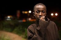 Daniel Maina, 13, a street kid in Nairobi's Westlands neighborhood.