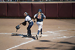 30 MAY 2016: KK Stevens (21) of University of Texas-Tyler scores a run during the Division III Women's Softball Championship is held at the James I Moyer Sports Complex in Salem, VA.  University of Texas-Tyler defeated Messiah College 7-0 for the national title. Don Petersen/NCAA Photos