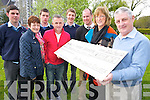 Pictured at the presentation of 1,015 from some of the students from St Brendans College, Killarney on Friday were Cathal Sheahan, Ann Moynihan, Shane Hennigan, Eugene O'Sullivan, David Osterloh, Declan O'Donoghue, Katrina Breen, and Timmy Moriarty.
