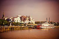 Steamboat Natchez,  Mississippi River, New Orleans, Louisiana USA