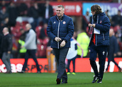 2nd December 2017, Griffen Park, Brentford, London; EFL Championship football, Brentford versus Fulham; Brentford Manager Dean Smith walking towards the dugout before kick off