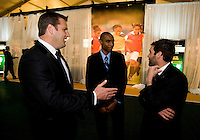 Curt Onalfo, Ben Olsen, Eddie Pope. The 2010 US Soccer Foundation Gala was held at City Center in Washington, DC.