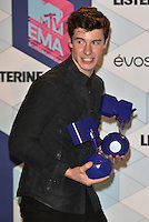 Shawn Mendes, winner best male<br /> 2016 MTV EMAs in Ahoy Arena, Rotterdam, The Netherlands on November 06, 2016.<br /> CAP/PL<br /> &copy;Phil Loftus/Capital Pictures /MediaPunch ***NORTH AND SOUTH AMERICAS ONLY***