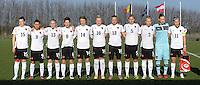 U19 Belgian Red Flames - Austria :<br /> <br /> Oostenrijk tijdens de hymne<br /> <br /> foto Dirk Vuylsteke / Nikonpro.be