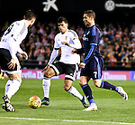 Valencia's Danilo Barbosa, Antonio Barragan and Real Madrid's Cristiano Ronaldo during La Liga match. January 3, 2016. (ALTERPHOTOS/Javier Comos)
