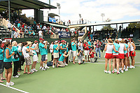 23 May 2006: Fans during Stanford's 4-1 win over the Miami Hurricanes in the 2006 NCAA Division 1 Women's Tennis Team Championships at the Taube Family Tennis Stadium in Stanford, CA.