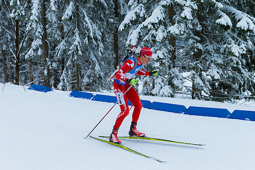 05.03.2016. Oslo Holmenkollen, Oslo, Norway. IBU Biathlon World Championships.  Kresimir Crnkovic of Croatia competes in the men 10km sprint competition during the IBU World Championships Biathlon in Holmenkollen Oslo, Norway.