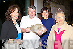 Celebrity Chef Martin Shanahan shows Mary Breen, Regina Devitt and Nellie Breen the Catch of the day at his Surf and Turf cooking demonstration in the Muckross Park Hotel Killarney on Friday evening..