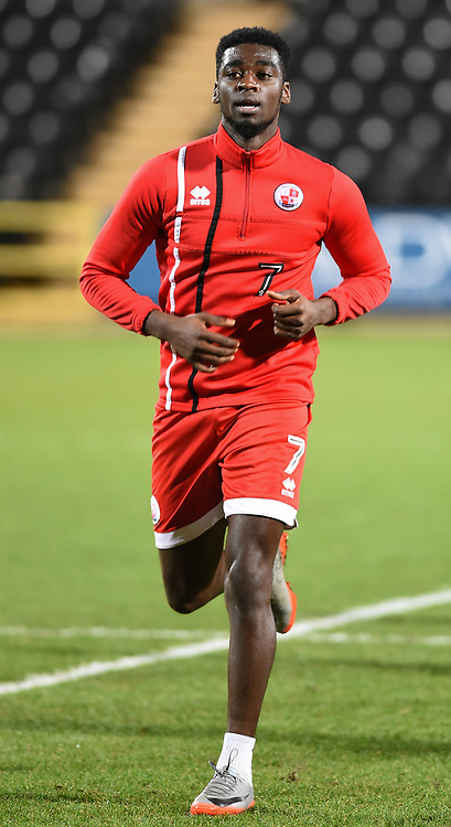 Crawley Town&rsquo;s Enzio Boldewijn during the pre-match warm-up <br /> <br /> Photographer Jon Hobley/CameraSport<br /> <br /> The EFL Sky Bet League Two - Notts County v Crawley Town - Tuesday 23rd January 2018 - Meadow Lane - Nottingham<br /> <br /> World Copyright &copy; 2018 CameraSport. All rights reserved. 43 Linden Ave. Countesthorpe. Leicester. England. LE8 5PG - Tel: +44 (0) 116 277 4147 - admin@camerasport.com - www.camerasport.com