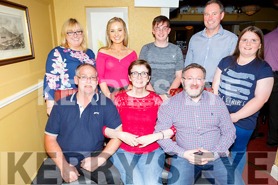 Triple birthday celebrations for Jimmy Brown, Marie and John Egan in the Brogue Inn on Saturday night.<br /> Seated l to r: Jimmy Brown, Marie and John Egan.<br /> Back l to r: Mary and Laura Harty, Matthew Brown, Paddy Harty and Aisling Brown.