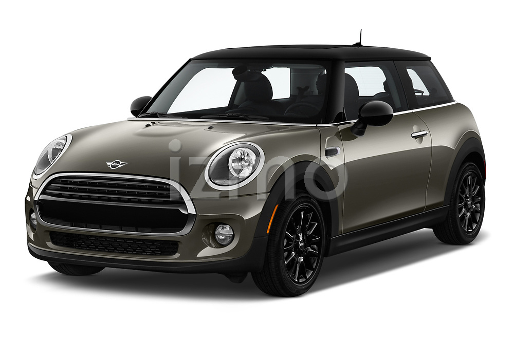 2019 Mini Cooper Hardtop 2 Door 3 Door Hatchback angular front stock photos of front three quarter view