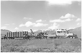 Modified RGS Goose #7 used by Brinkerhoff Bros. in dismantling the D&amp;RGW Crested Butte Branch.<br /> D&amp;RGW  Crested Butte area, CO  Taken by Richardson, Robert W. - 6/15/1955