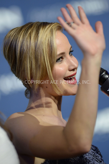 WWW.ACEPIXS.COM<br /> May 10, 2014 New York City<br /> <br /> Jennifer Lawrence attending the 'X-Men: Days Of Future Past' world premiere at Jacob Javits Center onMay 10, 2014 in New York City.<br /> <br /> Please byline: Kristin Callahan<br /> <br /> ACEPIXS.COM<br /> <br /> Tel: (212) 243 8787 or (646) 769 0430<br /> e-mail: info@acepixs.com<br /> web: http://www.acepixs.com