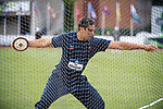 EUGENE, OR - JUNE 09: Filip Mihaljevic of the University of Virginia competes in the discus during the Division I Men's Outdoor Track & Field Championship held at Hayward Field on June 9, 2017 in Eugene, Oregon. Mihaljevic won the event with a 63.76 meter throw. (Photo by Jamie Schwaberow/NCAA Photos via Getty Images)