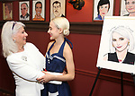 Jamie deRoy and Sophia Anne Caruso during the Sophia Anne Caruso Sardi's Portrait Unveiling at Sardi's on July 10, 2019 in New York City.