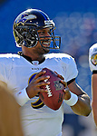 21 October 2007: Baltimore Ravens quarterback Steve McNair warms up prior to a game against the Buffalo Bills at Ralph Wilson Stadium in Orchard Park, NY. The Bills defeated the Ravens 19-14 in front of 70,727 fans marking their second win of the 2007 season...Mandatory Photo Credit: Ed Wolfstein Photo
