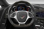 Car pictures of steering wheel view of a 2019 Chevrolet Corvette ZR1 3 Door Targa