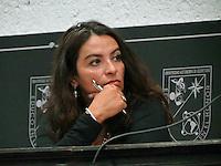 """Querétaro, Qro. 16 de octubre 2015. Esta mañana, la periodista e internacionalista Nydia Egremy impartió la conferencia """"Medio Oriente: una región por comprender"""" en el auditorio Fernando Díaz Ramírez de la UAQ. Foto: Alejandra L. Beltrán / Obture Press Agency."""