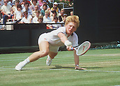 Boris Becker wins the Wimbledon  Tennis Tournament on 07 July 1985.
