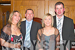 Having a good time at the Knockangoshell GAA Social in The Devon Inn Hotel Templeglantine on Saturday night Karen and Dan Joe Enright with Molly and Niall Wal   Copyright Kerry's Eye 2008