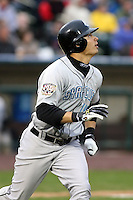 April 11th 2008: Outfielder Wayne Lydon of the Syracuse Chiefs, Class-AAA affiliate of the Toronto Blue Jays, during a game at Frontier Field in Rochester, NY.  Photo by Mike Janes/Four Seam Images