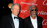 PALM SPRINGS, CA. - January 05: Clint Eastwood and Morgan Freeman arrive at the 2010 Palm Springs International Film Festival gala held at the Palm Springs Convention Center on January 5, 2010 in Palm Springs, California.
