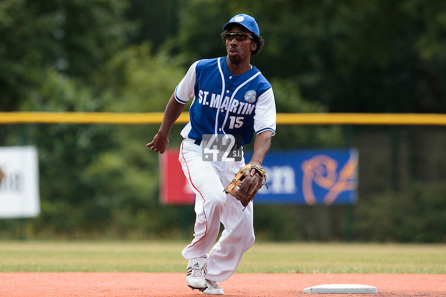 15 July 2010: Felix Brown of Team Saint Martin eyes the ball during day 3 of the Open de Rouen, an international tournament with Team France, Team Saint Martin, Team All Star Elite, at Stade Pierre Rolland, in Rouen, France.